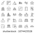 thin line icon set  ... | Shutterstock .eps vector #1074425528