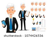 business man in office style... | Shutterstock .eps vector #1074426536