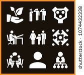 set of 9 people filled icons... | Shutterstock .eps vector #1074432338