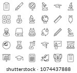thin line icon set  ... | Shutterstock .eps vector #1074437888