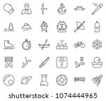 thin line icon set   queen pawn ... | Shutterstock .eps vector #1074444965
