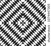 vector monochrome seamless... | Shutterstock .eps vector #1074447305