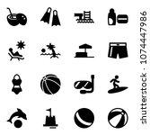 solid vector icon set   coconut ...   Shutterstock .eps vector #1074447986