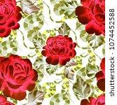 watercolor seamless pattern... | Shutterstock . vector #1074452588