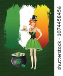 st patrick's day themed... | Shutterstock . vector #1074458456