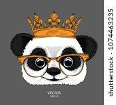 hand draw image portrait of... | Shutterstock .eps vector #1074463235