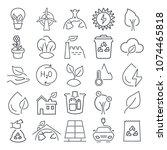 ecology line icons set for web... | Shutterstock .eps vector #1074465818