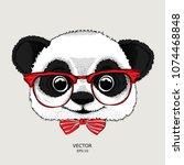 image portrait of panda in the... | Shutterstock .eps vector #1074468848