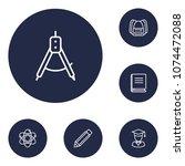 set of 6 studies icons line... | Shutterstock .eps vector #1074472088