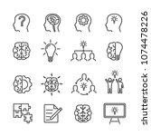 vector image set of creative... | Shutterstock .eps vector #1074478226