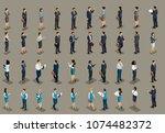 isometric big set of business... | Shutterstock .eps vector #1074482372