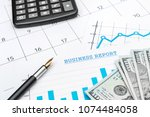 business concept. calculator ... | Shutterstock . vector #1074484058