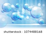 soap bubbles abstract... | Shutterstock . vector #1074488168
