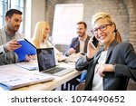 creative business team working... | Shutterstock . vector #1074490652