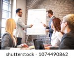 creative business team working... | Shutterstock . vector #1074490862