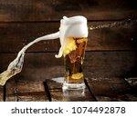 Beer Glass Splash