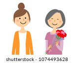 mother's day  parent and child | Shutterstock .eps vector #1074493628
