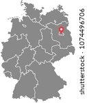 germany map vector outline... | Shutterstock .eps vector #1074496706