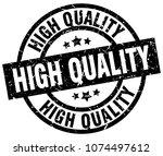 high quality round grunge black ... | Shutterstock .eps vector #1074497612