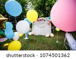 decoration with balloons for a... | Shutterstock . vector #1074501362