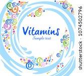 multi vitamin complex icons.... | Shutterstock .eps vector #1074502796
