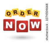 order now lettering design on... | Shutterstock .eps vector #1074504668