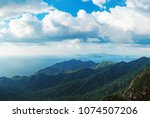 panoramic view of blue sky  sea ...   Shutterstock . vector #1074507206