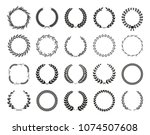 collection of different black... | Shutterstock .eps vector #1074507608
