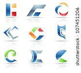 illustration of abstract icons... | Shutterstock . vector #107451206