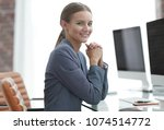 female accountant working with... | Shutterstock . vector #1074514772