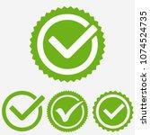 green tick mark. check mark...   Shutterstock .eps vector #1074524735