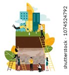 vector geological illustration  ... | Shutterstock .eps vector #1074524792