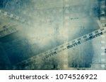 film negative frames on grunge... | Shutterstock . vector #1074526922