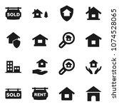 flat vector icon set   house... | Shutterstock .eps vector #1074528065