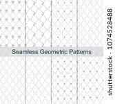 rhombus geometric silver grey... | Shutterstock .eps vector #1074528488
