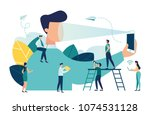 vector illustration on a white... | Shutterstock .eps vector #1074531128