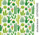 vector seamless pattern with... | Shutterstock .eps vector #1074541982