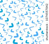 light blue vector seamless ... | Shutterstock .eps vector #1074557042