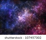 Colorful Deep Space Nebula