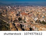 panoramic view of historical... | Shutterstock . vector #1074575612