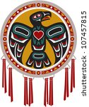 native american drum with eagle | Shutterstock .eps vector #107457815
