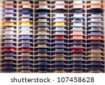 showcase with many colorful... | Shutterstock . vector #107458628