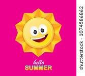 vector hello summer creative...   Shutterstock .eps vector #1074586862