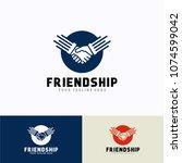 friendship logo template design.... | Shutterstock .eps vector #1074599042
