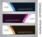 modern banner vector abstract...   Shutterstock .eps vector #1074599435