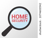 privacy concept  magnifying... | Shutterstock .eps vector #1074603542