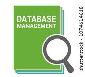 database concept  magnifying...   Shutterstock .eps vector #1074614618
