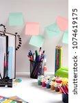 hello school. hello  september. ...   Shutterstock . vector #1074619175