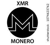 monero cryptocurrency... | Shutterstock .eps vector #1074623762