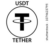 tether cryptocurrency... | Shutterstock .eps vector #1074623795